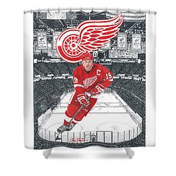 Steve Yzerman  Shower Curtain