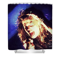 Steven In Color Shower Curtain by Traci Cottingham