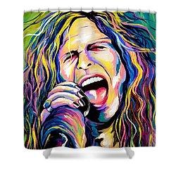 Steven Tyler Shower Curtain by Amy Belonio