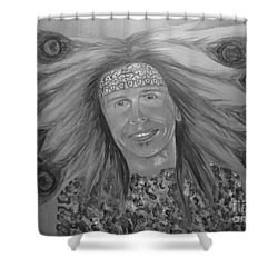Steven Tyler Art Shower Curtain