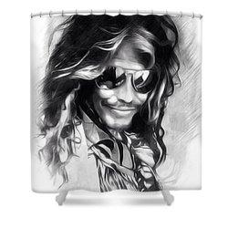 Steven Tyler Illustration  Shower Curtain