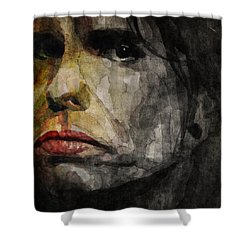 Steven Tyler  Shower Curtain by Paul Lovering