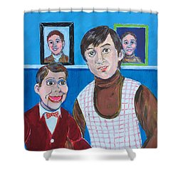 Stevie And Jerry Shower Curtain