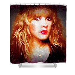 Stevie Nicks Drawing Shower Curtain