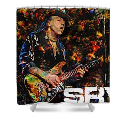 Stevie Ray Shower Curtain