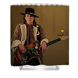 Stevie Ray Vaughan 2 Shower Curtain by Paul Meijering