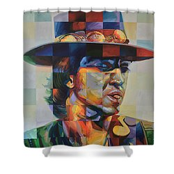 Stevie Ray Vaughan Shower Curtain