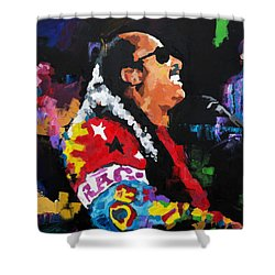 Stevie Wonder Live Shower Curtain