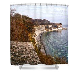Stevns Klint Shower Curtain