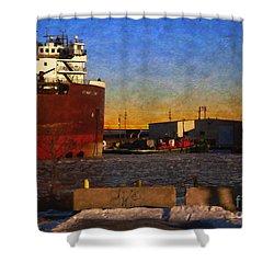 Shower Curtain featuring the digital art Stewart J. Cort by David Blank