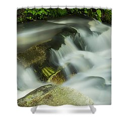 Shower Curtain featuring the photograph Stickney Brook Flowing by Tom Singleton