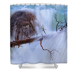 Shower Curtain featuring the photograph Sticks And Stones by Rick Furmanek