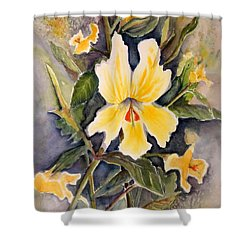 Sticky Monkey Flower Shower Curtain