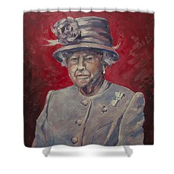 Stiff Your Upperlip And Carry On Shower Curtain