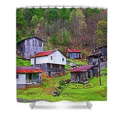 Stike Holler Shower Curtain by Dale R Carlson