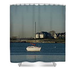 Still Boat Shower Curtain