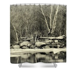 Still December  Shower Curtain