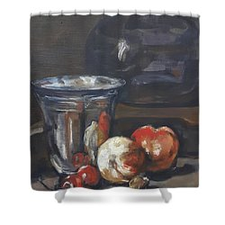 Still In Oil After Paul Chardin Shower Curtain
