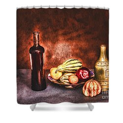 Shower Curtain featuring the photograph Still Life  ... by Chuck Caramella