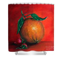 Shower Curtain featuring the painting Still Life #1 by Thomas Lupari