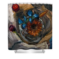 Still Life Abstract Shower Curtain