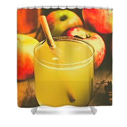 Still Life Apple Cider Beverage Shower Curtain by Jorgo Photography - Wall Art Gallery
