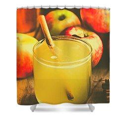 Still Life Apple Cider Beverage Shower Curtain