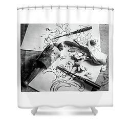 Still Life Carving Still Life Shower Curtain
