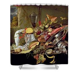 Still Life Shower Curtain by Jan Davidsz Heem