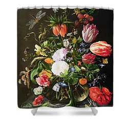 Still Life Of Flowers Shower Curtain by Jan Davidsz de Heem