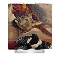 Still Life Of Game Shower Curtain by Theodore Gericault
