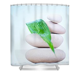 Still Life Of Spa Stones Shower Curtain