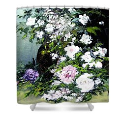 Still Life W/flowers Shower Curtain