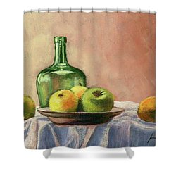 Still Life With Bottle Shower Curtain