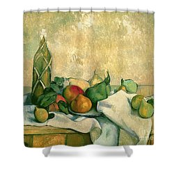 Still Life With Bottle Of Liqueur Shower Curtain