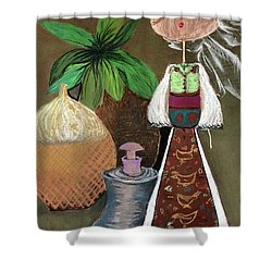 Still Life With Countru Girl Shower Curtain