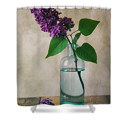 Shower Curtain featuring the photograph Still Life With Fresh Lilac by Jaroslaw Blaminsky