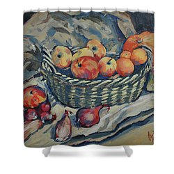 Still Life With Fruit And Vegetables Shower Curtain