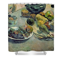 Still Life With Fruit Shower Curtain by Paul Gauguin