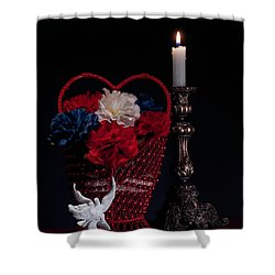 Still Life With Lovebirds Shower Curtain