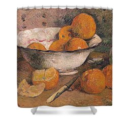 Still Life With Oranges Shower Curtain by Paul Gauguin