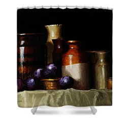Still Life With Plums Shower Curtain