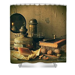 Still Life With Pork Fat Shower Curtain
