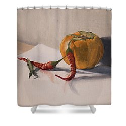 Still Life With Produce Shower Curtain