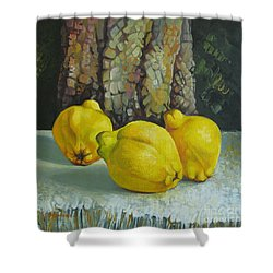 Still Life With Quinces Shower Curtain