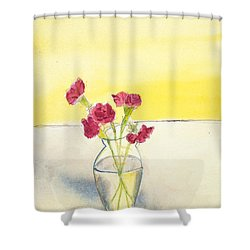Still Life With Roses Shower Curtain
