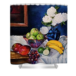 Still Life With Snowballs Shower Curtain