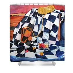 Still Life With Squares Shower Curtain