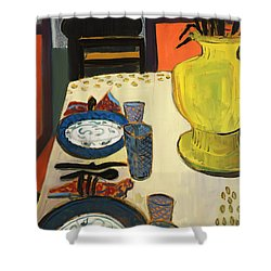 Still Life With Two Plates Shower Curtain