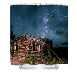 Still Night At Old Cabin Shower Curtain by Michael J Bauer